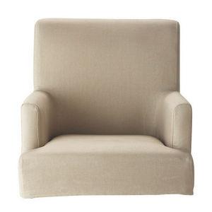 Maisons du monde - housse de fauteuil de bar lin lounge - Housse De Fauteuil