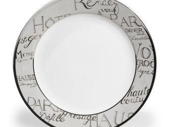 Maisons du monde - assiette plate rendez-vous - Assiette Plate