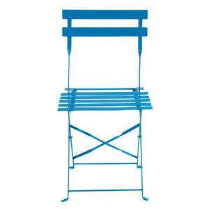 Maisons du monde - lot de 2 chaises bleues guinguette - Chaise De Jardin