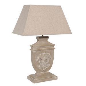 MAISONS DU MONDE - lampe lys bois cérusé - Lampe À Poser