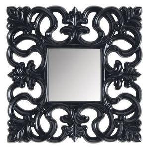 Maisons du monde - miroir rivoli carré noir - Miroir
