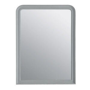 Maisons du monde - miroir elianne arrondi gris 90x120 - Miroir