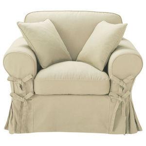 Maisons du monde - fauteuil coton mastic butterfly - Fauteuil