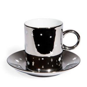 Maisons du monde - tasse et soucoupe à café etoilée - Tasse À Café