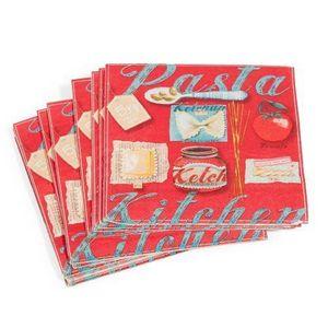 Maisons du monde - serviette pasta vintage x 20 - Serviette En Papier