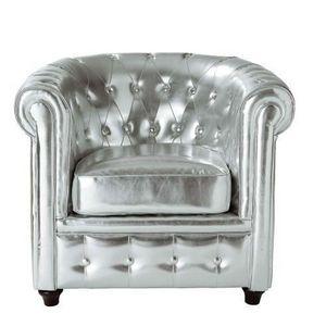 Maisons du monde - fauteuil argent chesterfield - Fauteuil Chesterfield
