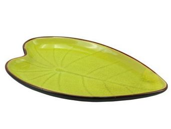 Maisons du monde - assiette feuille green tea - Assiette Plate