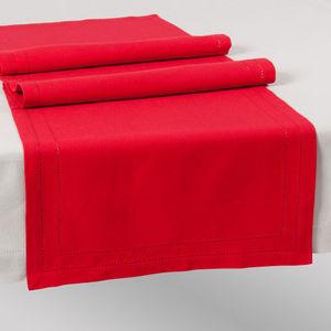 Maisons du monde - chemin de table unie rouge - Chemin De Table