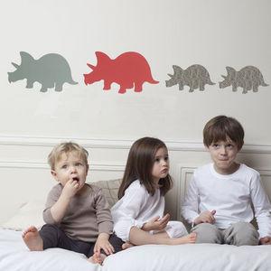 ART FOR KIDS - stickers famille trieratops - Sticker Décor Adhésif Enfant