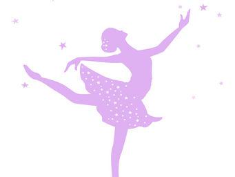 LILI POUCE - stickers danseuse �toile - Sticker D�cor Adh�sif Enfant