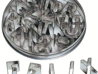 Redecker - emporte pièces alphabet 26 pièces 12x12x2cm - Lettre Décorative