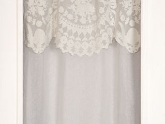 Coquecigrues - rideau à cantonnière castille ivoire - Rideaux Prêts À Poser