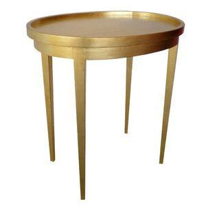 DECO PRIVE - table a the en bois dore - Table De Chevet