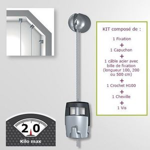 DECOHO - kit solohanger - accrochage autonome - Tringle D'accrochage Tableau