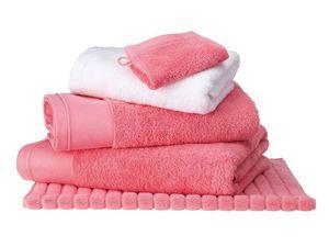 BLANC CERISE - drap de bain corail - coton peigné 600 g/m² - uni - Serviette De Toilette