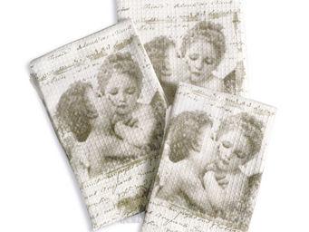 Mathilde M - serviette de toilette anges amoureux - Serviette De Toilette