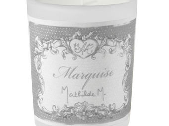 Mathilde M - bougie verre givr�, parfum marquise - Bougie Parfum�e