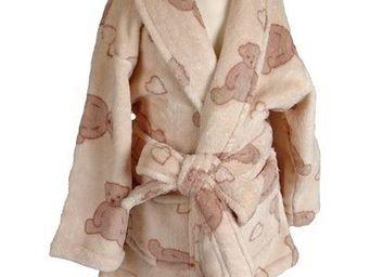 SIRETEX - SENSEI - peignoir enfant polaire imprimé teddy love - Peignoir Enfant