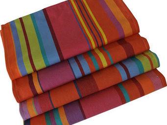 Les Toiles Du Soleil - serviette de table bonbons plume capucine - Serviette De Table