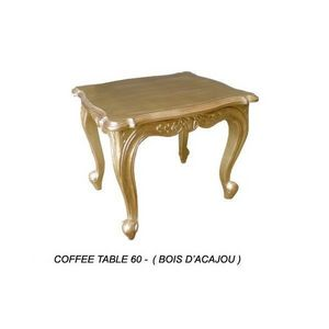 DECO PRIVE - table baroque basse en bois dore 60 cm - Table D'appoint