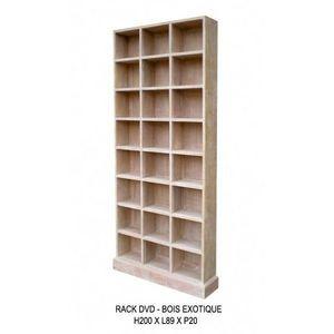 DECO PRIVE - meuble range dvd en bois ceruse - Range Cd