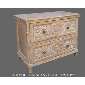 DECO PRIVE - commode en bois ceruse catalane - Commode