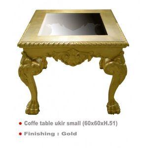 DECO PRIVE - table basse doree 60 x 60 cm ukir - Table Basse Carrée