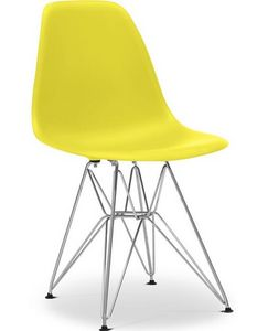Charles & Ray Eames - chaise jaune dsr charles eames lot de 4 - Chaise Réception