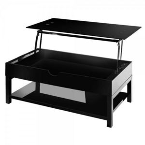 WHITE LABEL - table basse relevable doha - Table Basse Forme Originale