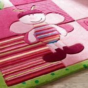 ESPRIT - tapis de chambre bee rose 70x140 en acrylique - Tapis Enfant