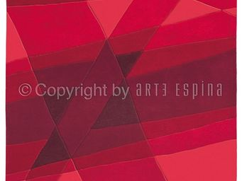 Arte Espina - tapis de petit tapis luminous rouge 70x140 en acry - Tapis Contemporain