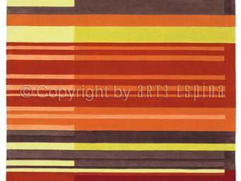 Arte Espina - tapis de petit tapis colour codes rouge 70x140 en  - Tapis Contemporain