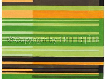 Arte Espina - tapis de salon colour codes vert 140x200 en acryli - Tapis Contemporain