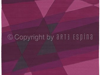 Arte Espina - tapis de chambre luminous 1 violet 120x180 en acry - Tapis Contemporain