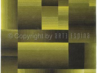 Arte Espina - tapis de salon digiworld vert 170x240 en acrylique - Tapis Contemporain