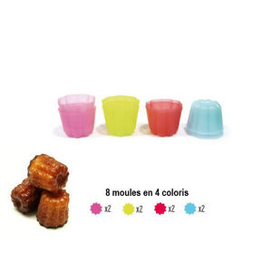 LILY COOK EASY MAKE - lilly cook - ensemble de 8 moules à cannelés ou fl - Moule À Gâteau