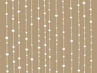 FLEUR DE SOLEIL - tissu perles taupe 160x160 - Tissu D'ameublement