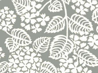 FLEUR DE SOLEIL - tissu hortensia gris 160x160 - Tissu D'ameublement
