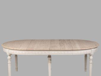 BLANC D'IVOIRE - hubert - Table De Repas Ovale