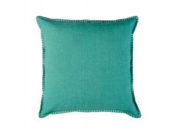 BLANC D'IVOIRE - julia turquoise - Coussin Carré