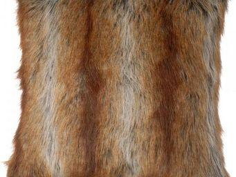 La Chaise Longue - coussin 45*45cm fausse fourrure renard - Coussin Carré