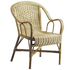 Aubry-Gaspard - fauteuil en manau et moelle de rotin naturelle cra - Fauteuil De Jardin