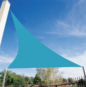 VERANOVA - voile d'ombrage triangulaire bleue en polyester 3 - Voile D'ombrage
