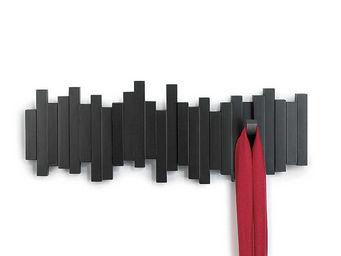 Umbra - porte manteaux mural sticks noir 5 crochets - Portemanteau