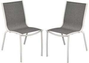 PROLOISIRS - chaise linea en aluminium blanc sand et textil�ne  - Chaise De Jardin