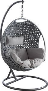 Aubry-Gaspard - fauteuil oeuf en polyrésine sur pied - Balancelle