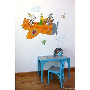 SERIE GOLO - sticker mural ça plane 100x61cm - Sticker Décor Adhésif Enfant