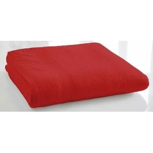 TODAY - serviette de bain unie 90 x 150 cm - couleur - rou - Serviette De Toilette