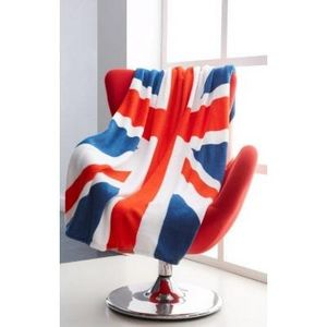 TODAY - plaid moelleux union jack 120x150cm - Plaid