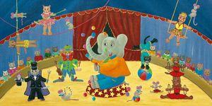 FRANÇOISE LEBLOND - toile sur châssis le cirque de françoise leblond 6 - Tableau Décoratif Enfant